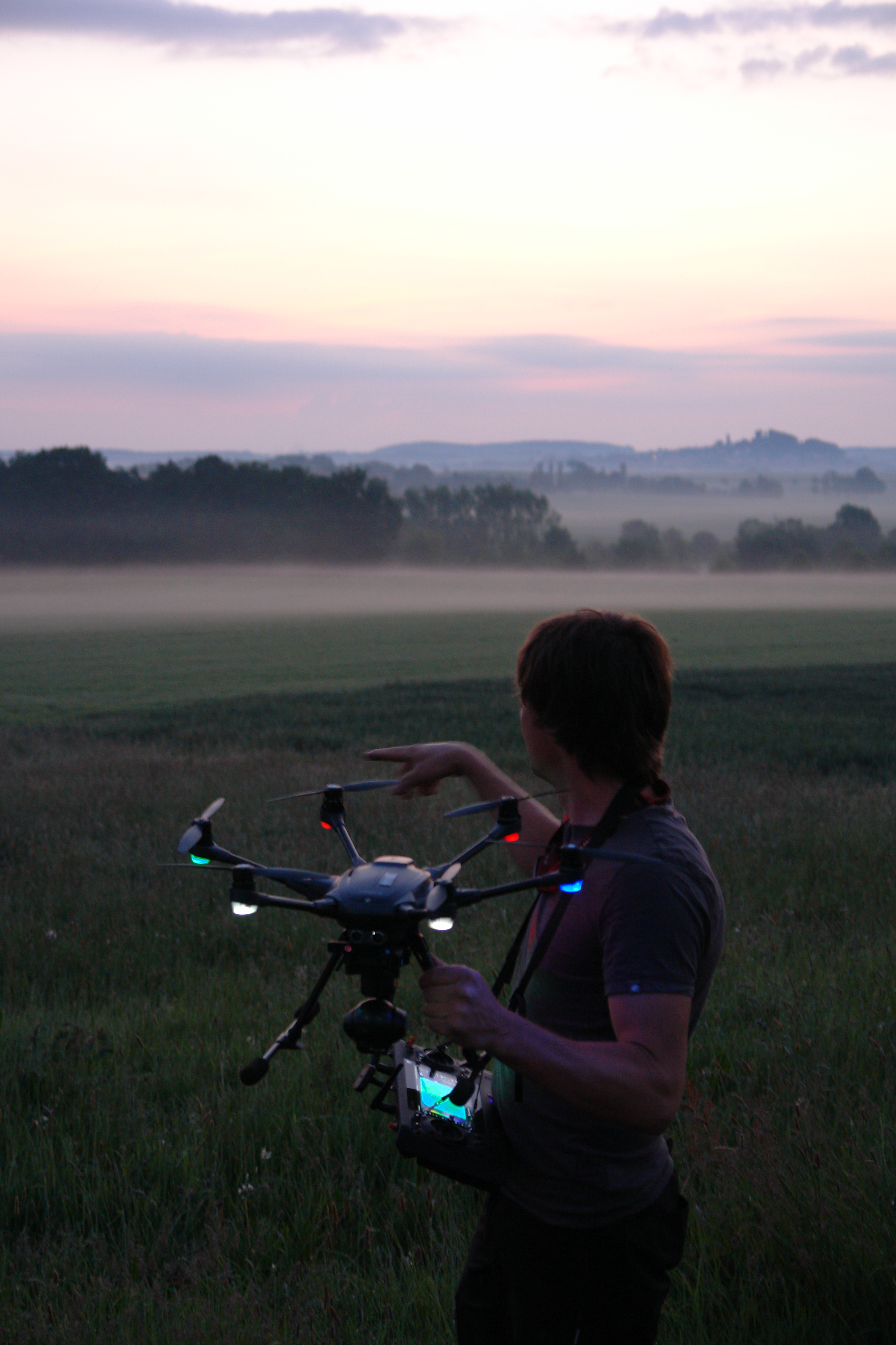 Drohnensuche der Rehkitzrettung Helmsdorf